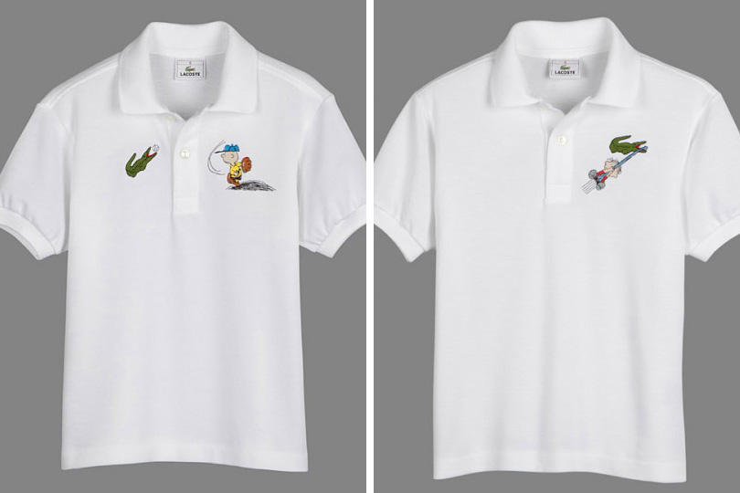 Snoopy e Charlie Brown interagem com crocodilo em novas camisas da ... 9b23ba1f92