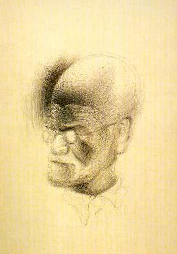O desenhos que Dali fez de Freud em Londres