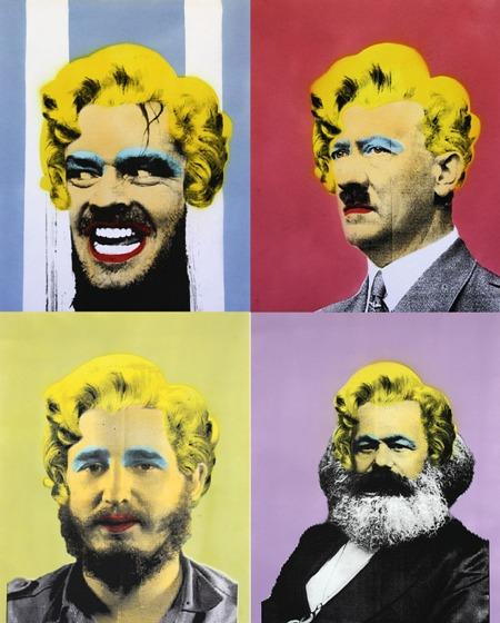 Jack, Hitler, Fidel Castro e Marx por Jesse Lenz