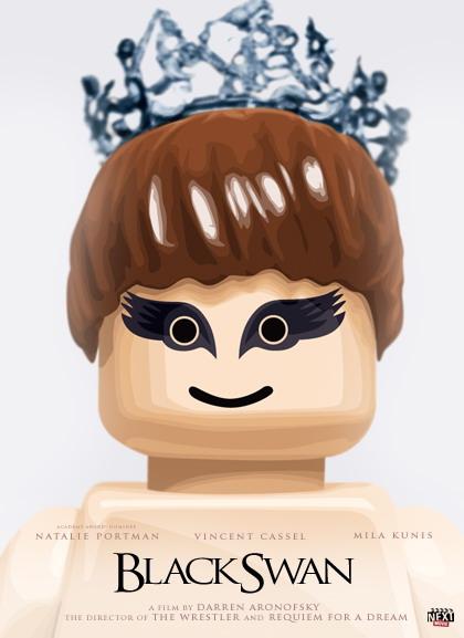 """""""Black Swan"""" em versão Lego"""
