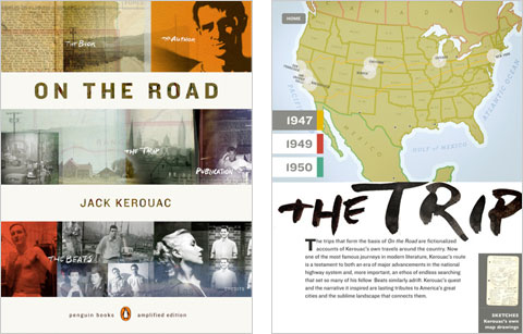 "Screenshots da versão ampliada de ""On the Road"""