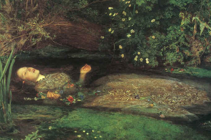 A morte de Ofélia, de John Everett Millais