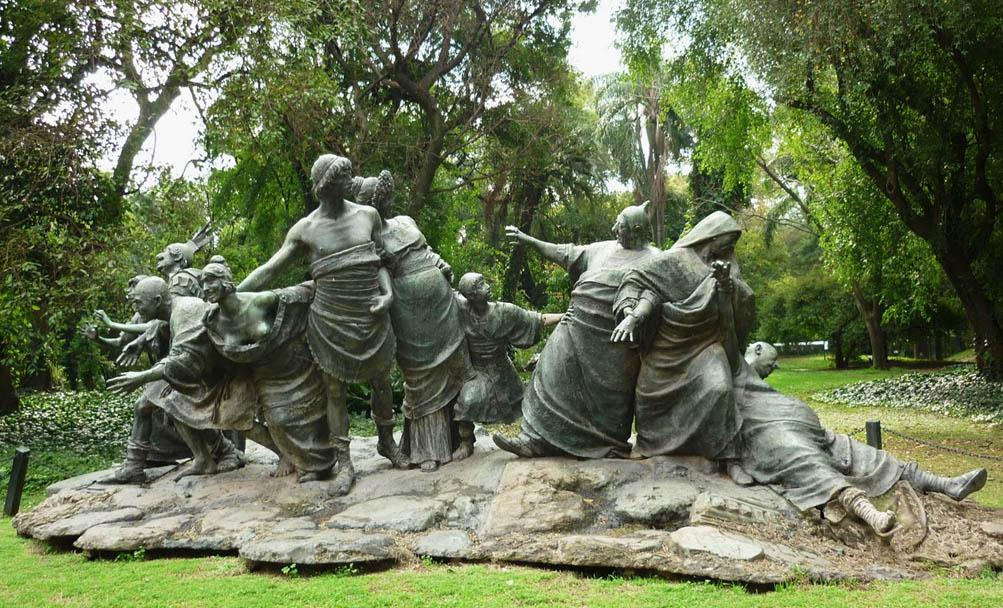 festa jardim botanico:No Jardim Botânico de Buenos Aires há uma escultura que representa a