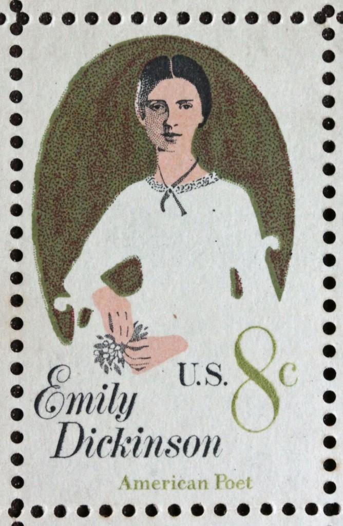 Selo de 1971 em homenagem a Emily Dickinson