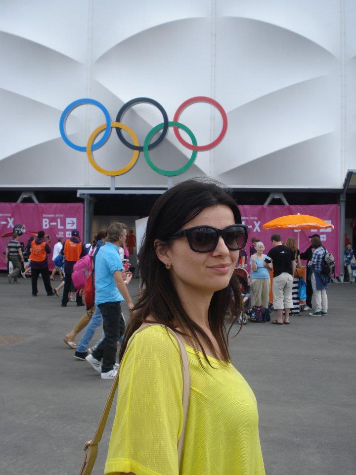 Fernanda no Parque Olímpico de Londres