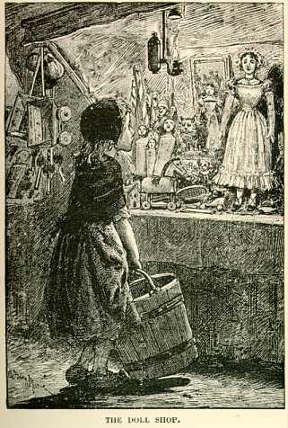 Antiga ilustração de Cosette cobiçando a boneca