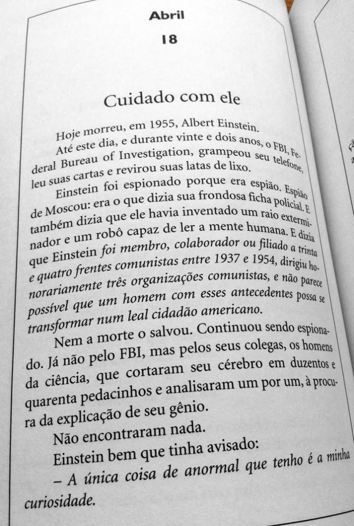 """Página de """"Os filhos dos dias"""", de Eduardo Galeano"""