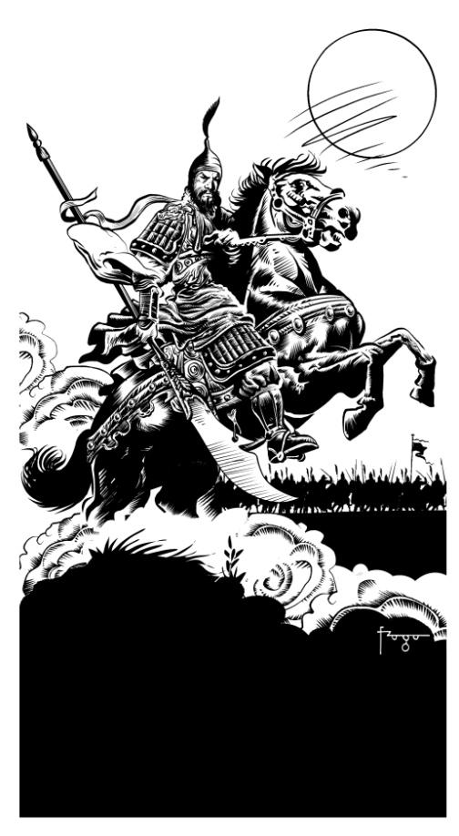 """Na Coleção L&PM Pocket, há um volume de """"A arte da guerra"""", ilustrado por Gilmar Fraga"""