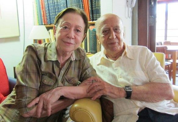 Fernanda Montenegro e Millôr Fernandes nos anos 1990