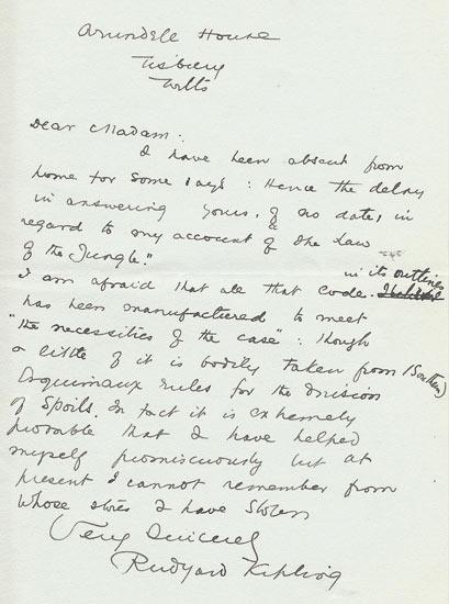 A carta de Kipling