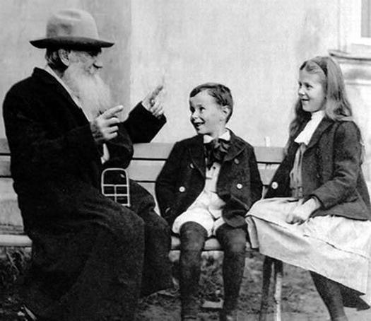 Tolstói adorava crianças
