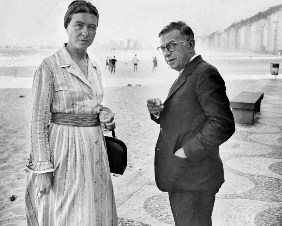 SImone e Sartre no Rio de Janeiro em 1969.