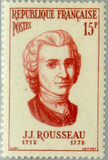 Rousseau em estampa de selo francês