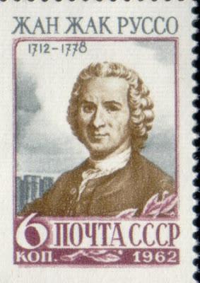 Rousseau em selo da antiga União das Repúblicas Soviéticas (CCCP)