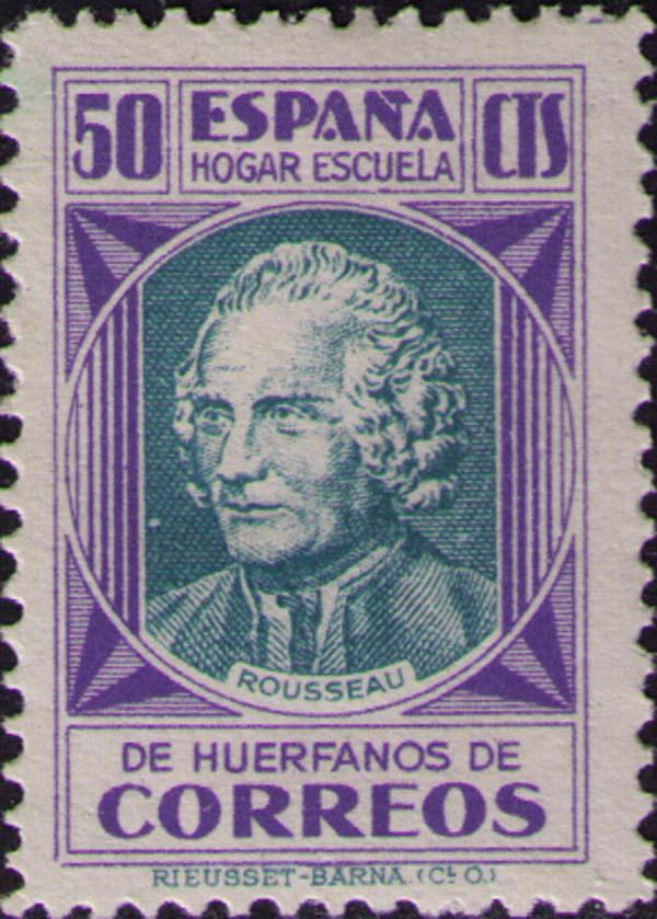 Rousseau em versão selo espanhol