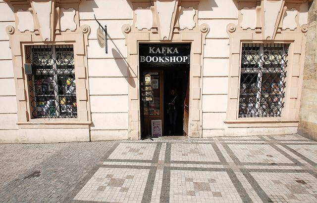 Aqui ficava a loja do pai de Kafka
