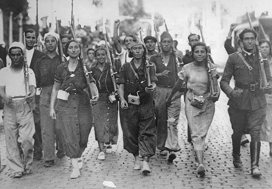 As mulheres tiveram intensa participação na Guerra Civil Espanhola