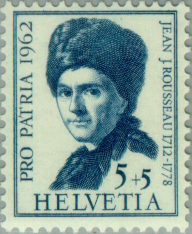 Rousseau em selo suíço
