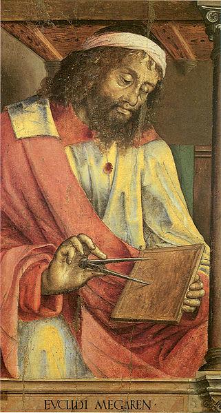 """""""Euclid of Megare"""", pintura de Justus of Ghent, datada de cerca de 1474"""