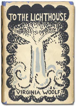 Esta foi a sobrecapa original da primeira edição de To the Lighthouse, criada por Vanessa Bell, irmã de Virginia Woolf. O livro foi lançado em maio de 1927 pela Hogarth Press, a editora do casal Leonard e Virginia Woolf.