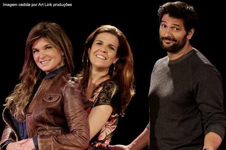 O elenco da peça: Cristiana Oliveira,
