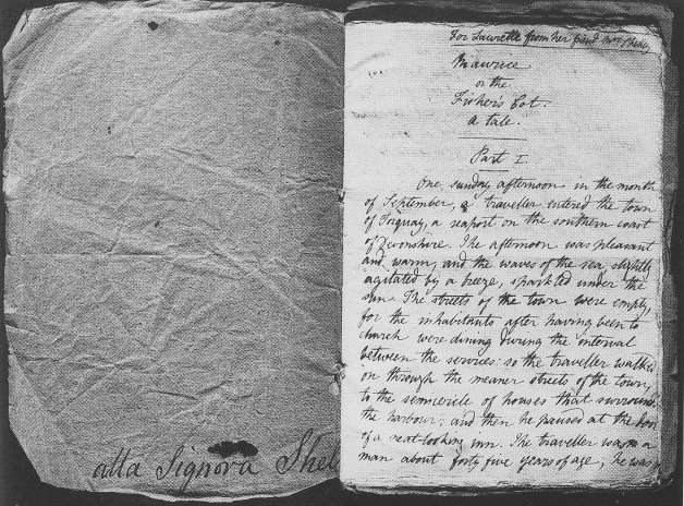 "O manuscrito de ""Maurice"", de Mary Shelley, encontrado na Itália"