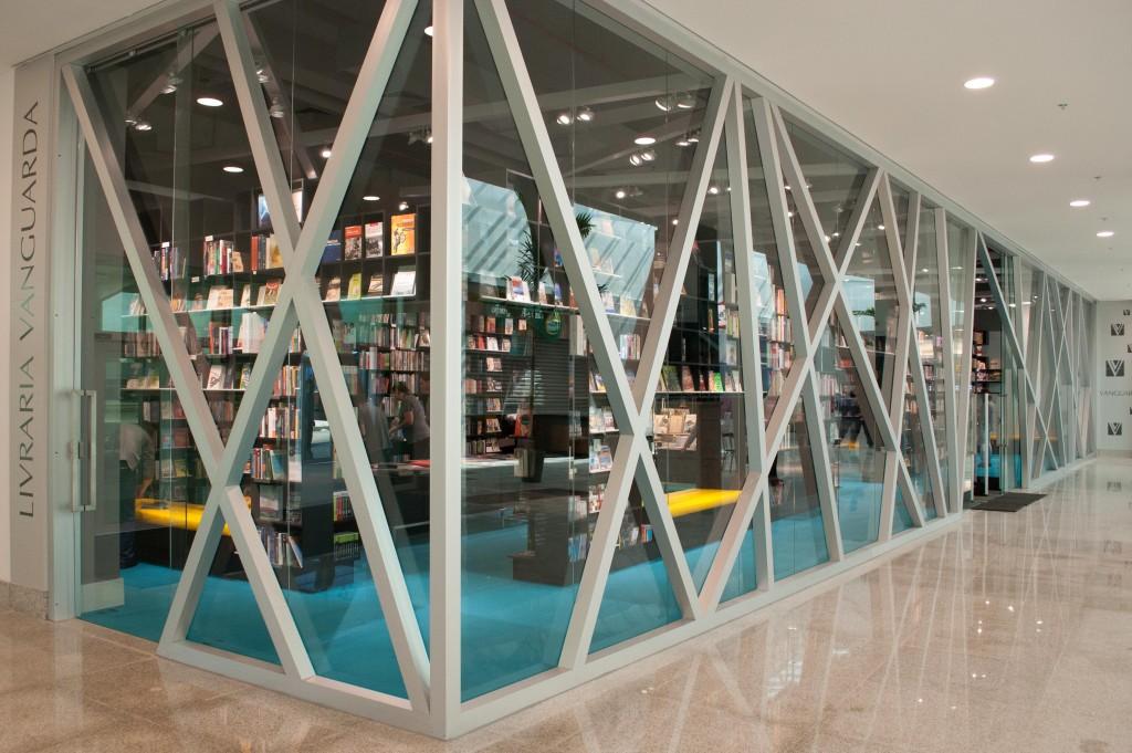 A entrada da nova Livraria Vanguarda em Pelotas