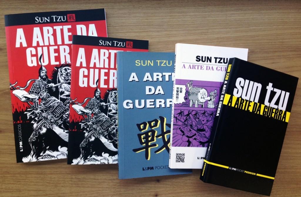 """A L&PM publica """"A arte da guerra"""" em várias versões: ilustrado, grande, pequeno, em mangá e capa dura"""