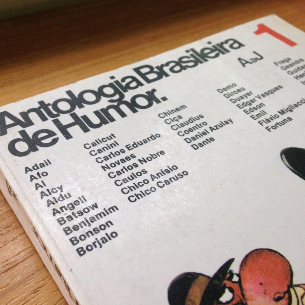 A capa da Antologia Brasileira de Humor- Vol. I, publicada pela L&PM em 1976