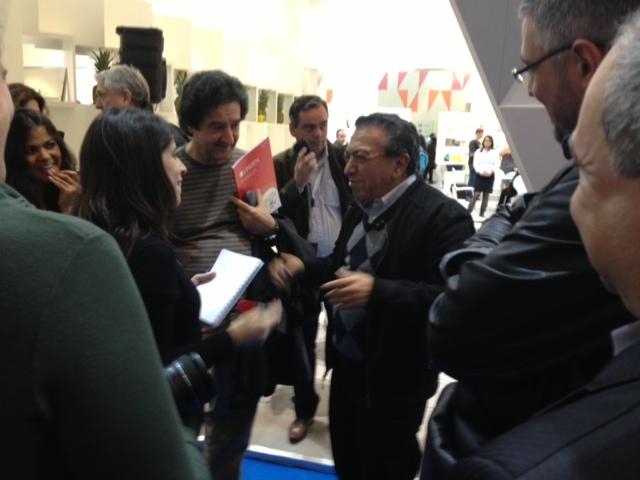 Mauricio de Sousa foi bastante assediado pelos repórteres