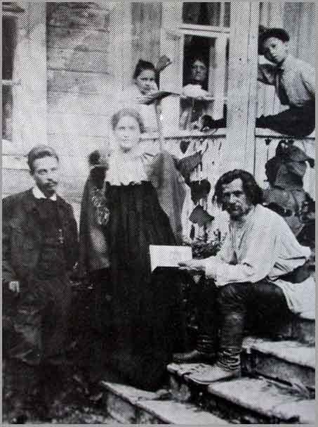 Rilke com Lou Adreas-Salomé e o poeta Spiridon Drozin em 1900