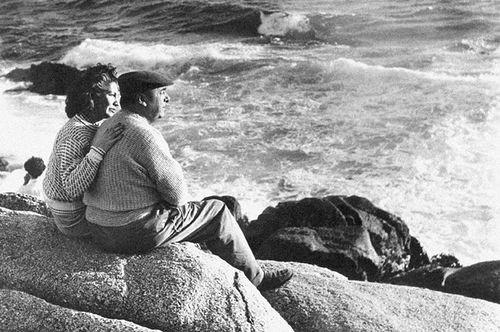 Pablo Neruda e sua mulher Matilde e o mar do Chile