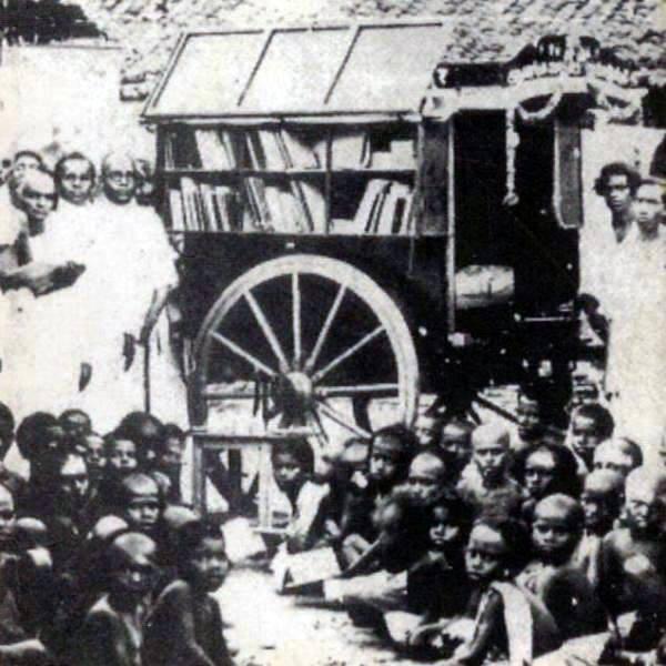Em 1931, a Índia já contava com uma biblioteca móvel.