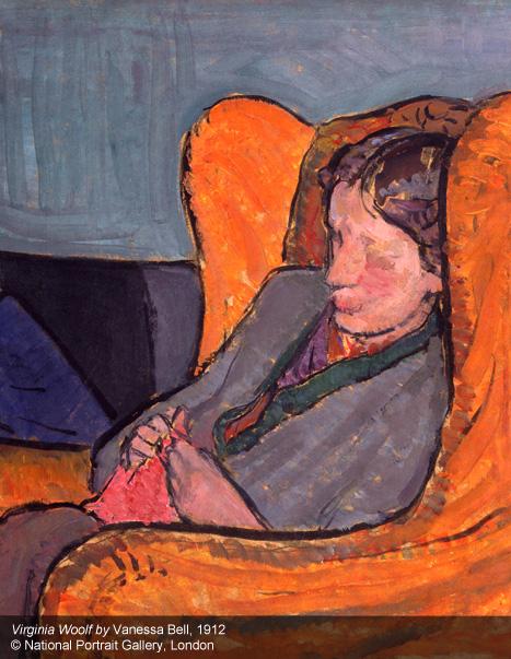 Virginia Woolf por Vanessa Bell em pintura de 1912