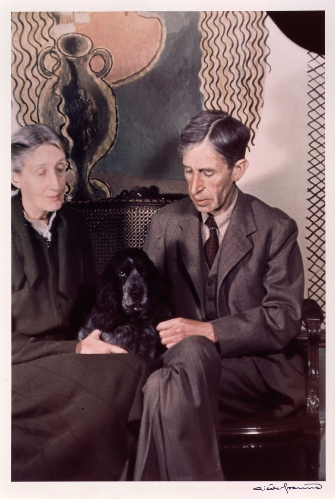 Virginia e Leonard Woolf em 1939, fotografados por Gisele Freund
