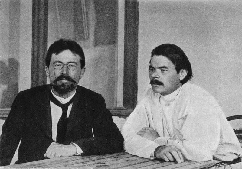 Tchékhov e Gorky em 1900