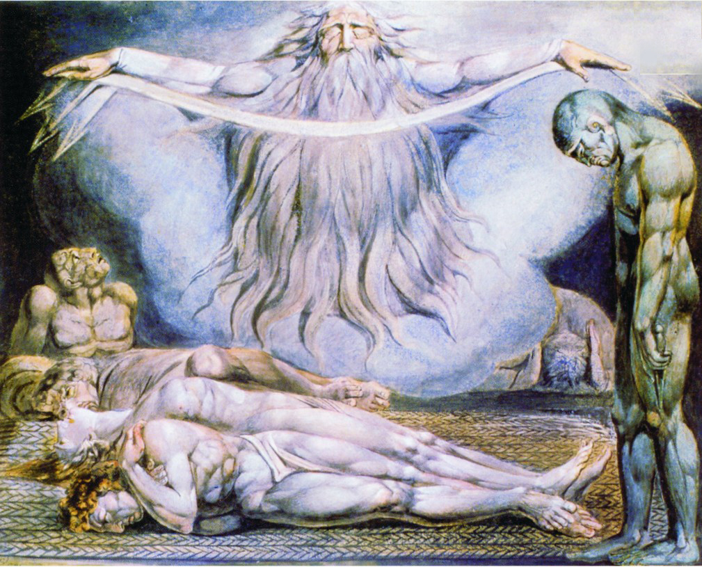 A pintura de William Blake impressiona