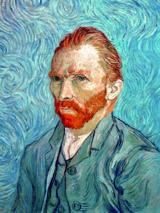 Vincent Van Gogh em autorretrato feito em 1889