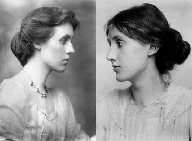 As irmãs Vanessa Bell e Virginia Woolf
