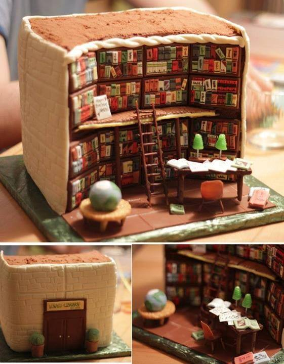 Bolo biblioteca