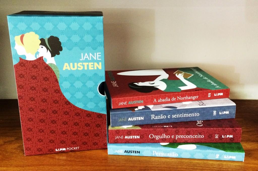 Caixa Jane Austen chegou primeiro na loja da Amazon por um preço especial: de R$ 83,90 por R$ 49,90