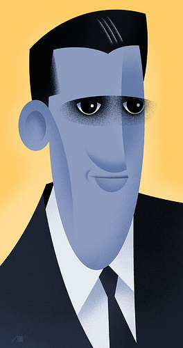 J. D. Salinger por Bob Staake