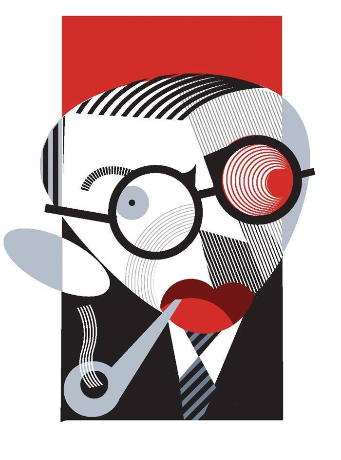 Jean-Paul Sartre por Paulo Lobato