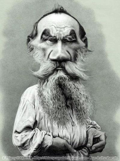 Leon Tolstói por Therry Coquelet