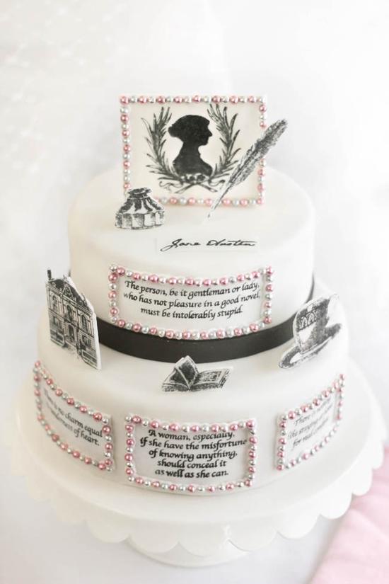 Bolo tributo a Jane Austen