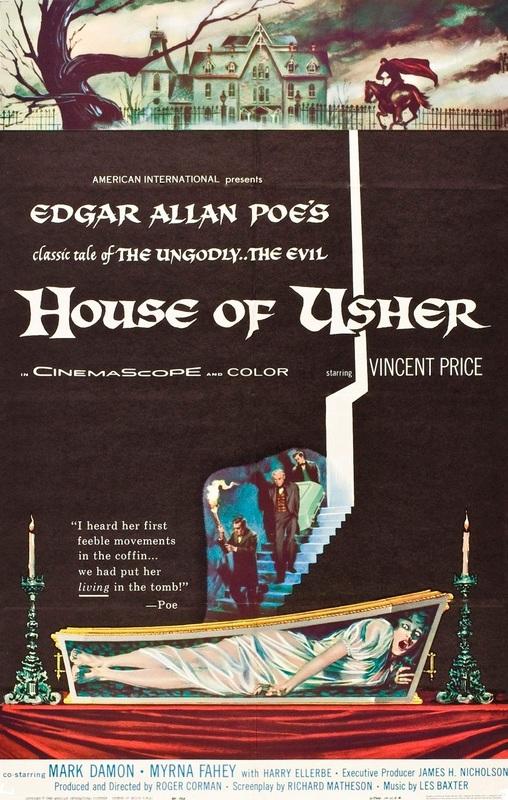 Uma das mais famosas histórias de Edgar Allan Poe em filme de 1960