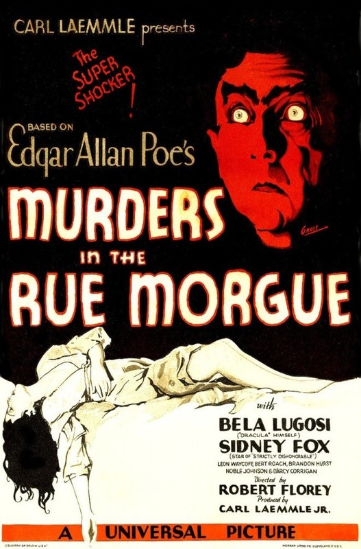 """Assassinatos na Rua Morgue"", de 1932 com"
