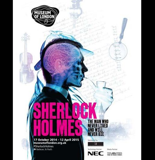 O cartaz da exposição sobre Sherlock Holmes