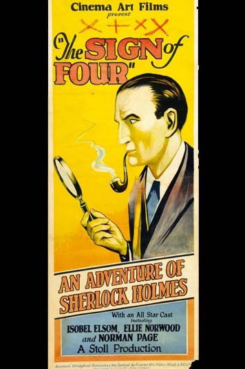 Cartaz de um filme australiano de 1932, da RKO Pictures, que adaptou para o cinema a segunda história do detetive, criada por Conan Doyle