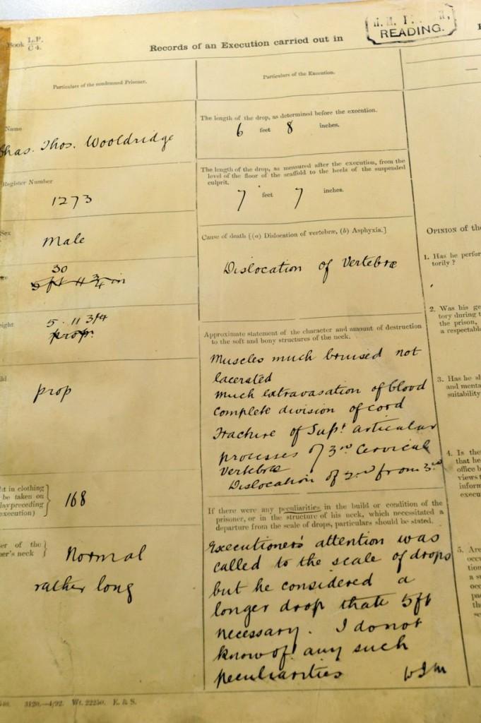 Os registros sobre Woolridge que virou personagem de Wilde